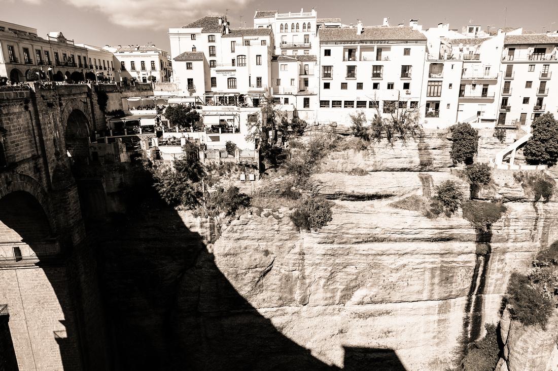 Vue du Pont Nouveau à Ronda
