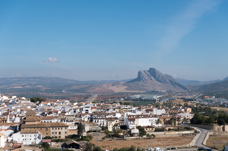 Panorama sur Antequera depuis l'Alcazaba